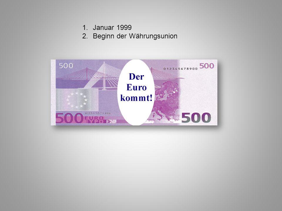 Januar 1999 Beginn der Währungsunion