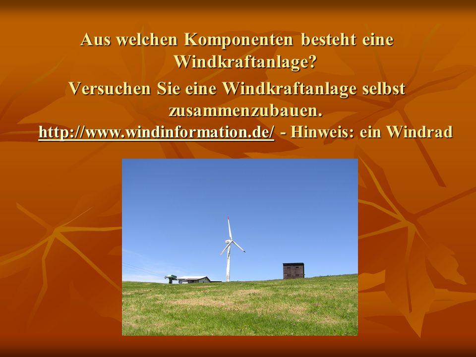 Aus welchen Komponenten besteht eine Windkraftanlage