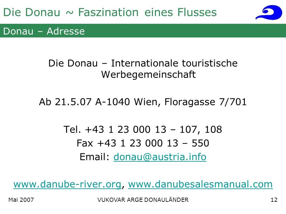 Die Donau – Internationale touristische Werbegemeinschaft