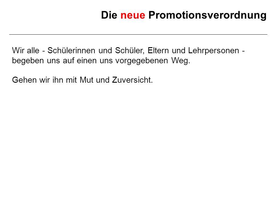 Die neue Promotionsverordnung