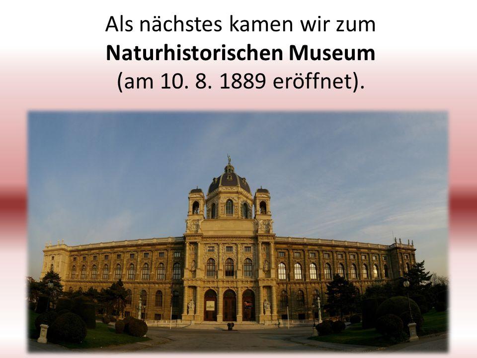 Als nächstes kamen wir zum Naturhistorischen Museum (am 10. 8