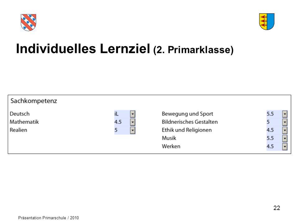 Individuelles Lernziel (2. Primarklasse)