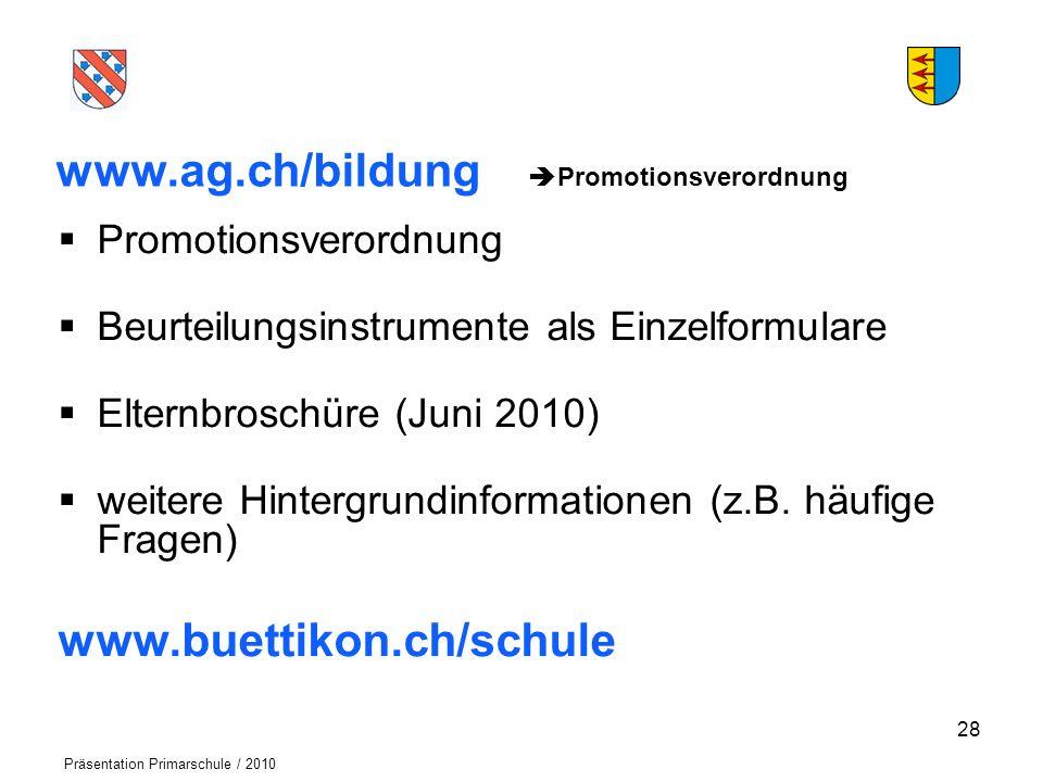 www.ag.ch/bildung Promotionsverordnung