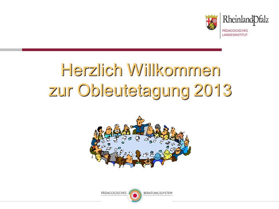 Herzlich Willkommen zur Obleutetagung 2013