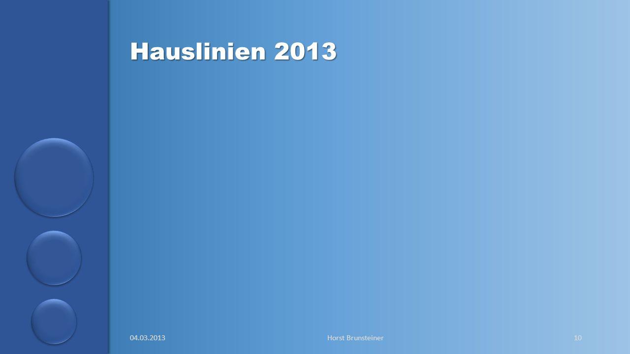 Hauslinien 2013 04.03.2013 Horst Brunsteiner