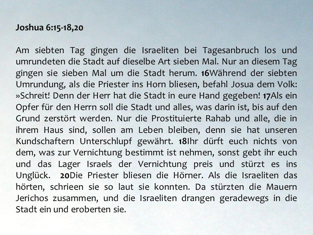 Joshua 6:15-18,20