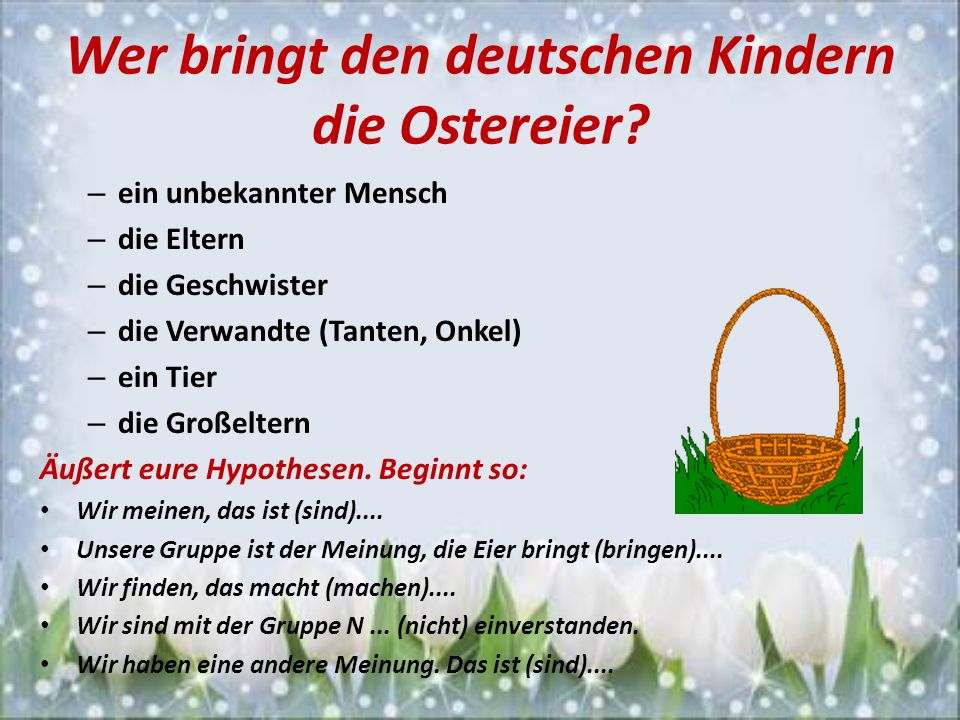 Wer bringt den deutschen Kindern die Ostereier