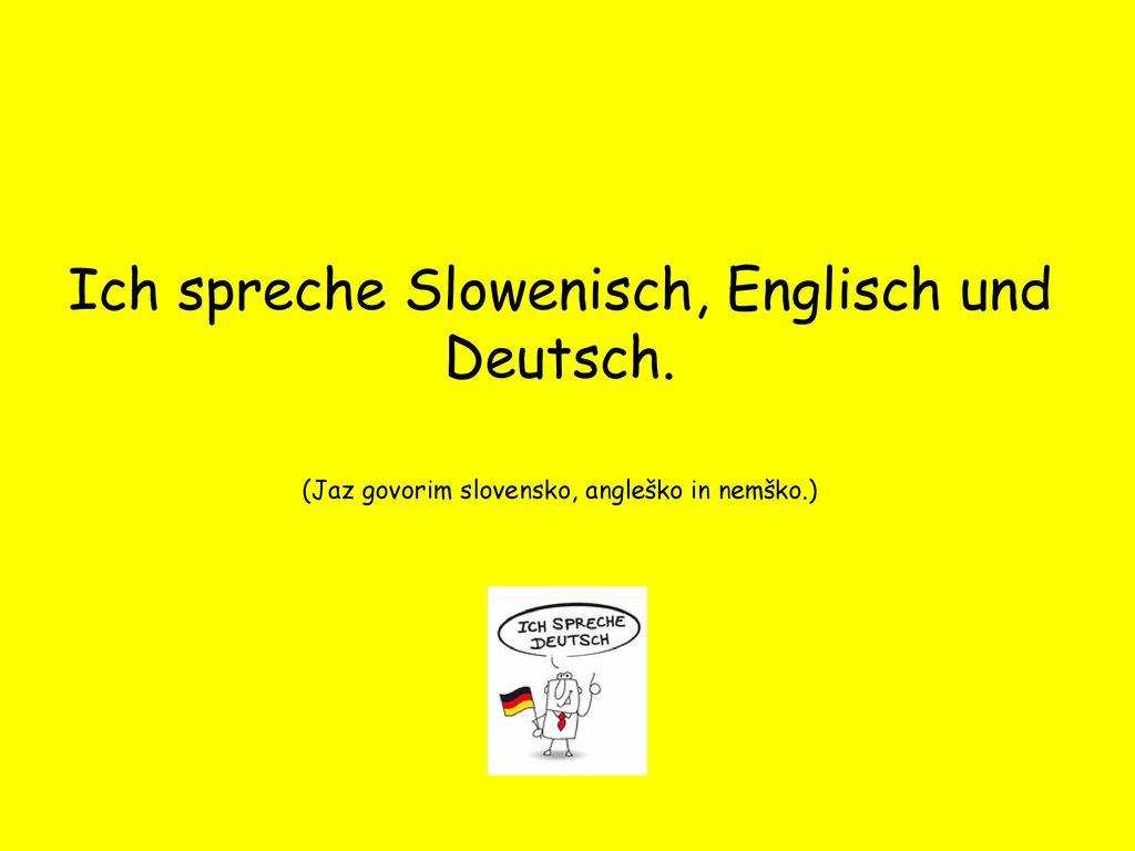 spreche ich mit englisch