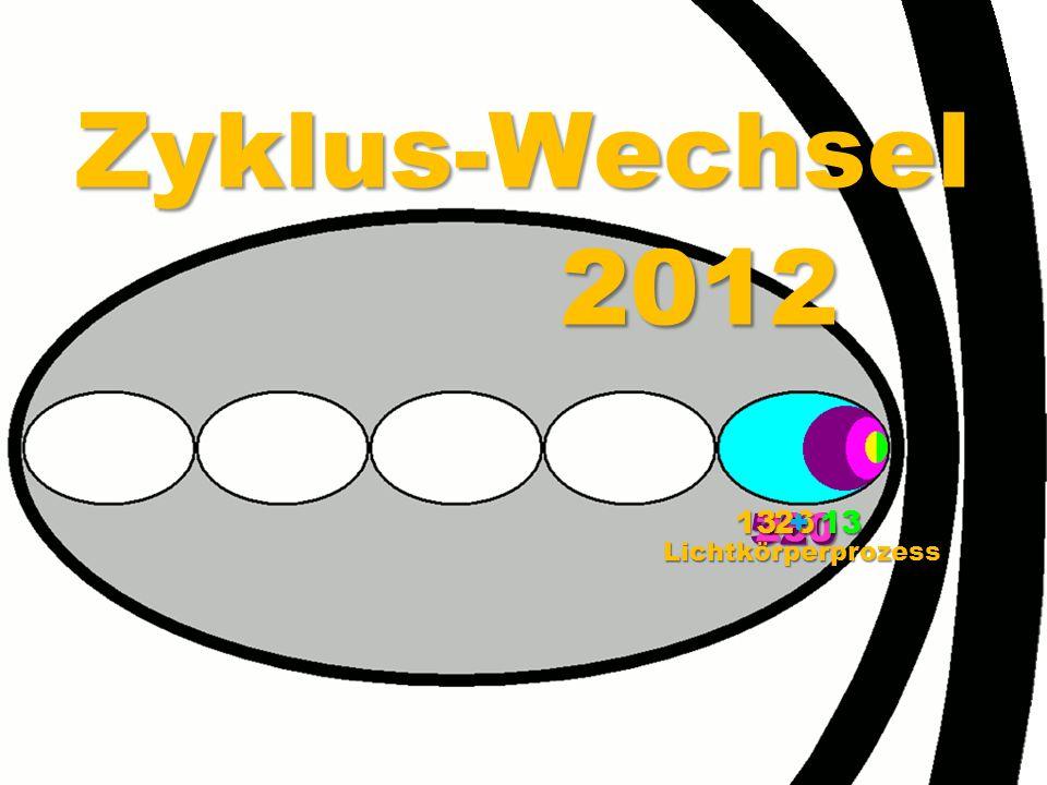 Zyklus-Wechsel 2012 13 + 13 26 260 520 Lichtkörperprozess