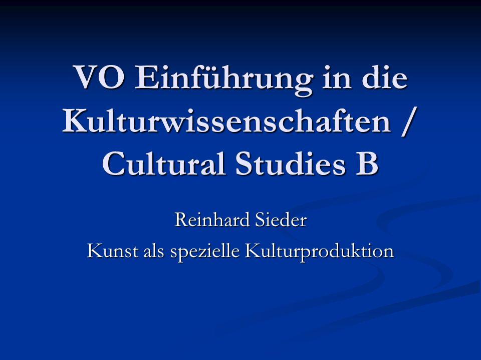 VO Einführung in die Kulturwissenschaften / Cultural Studies B