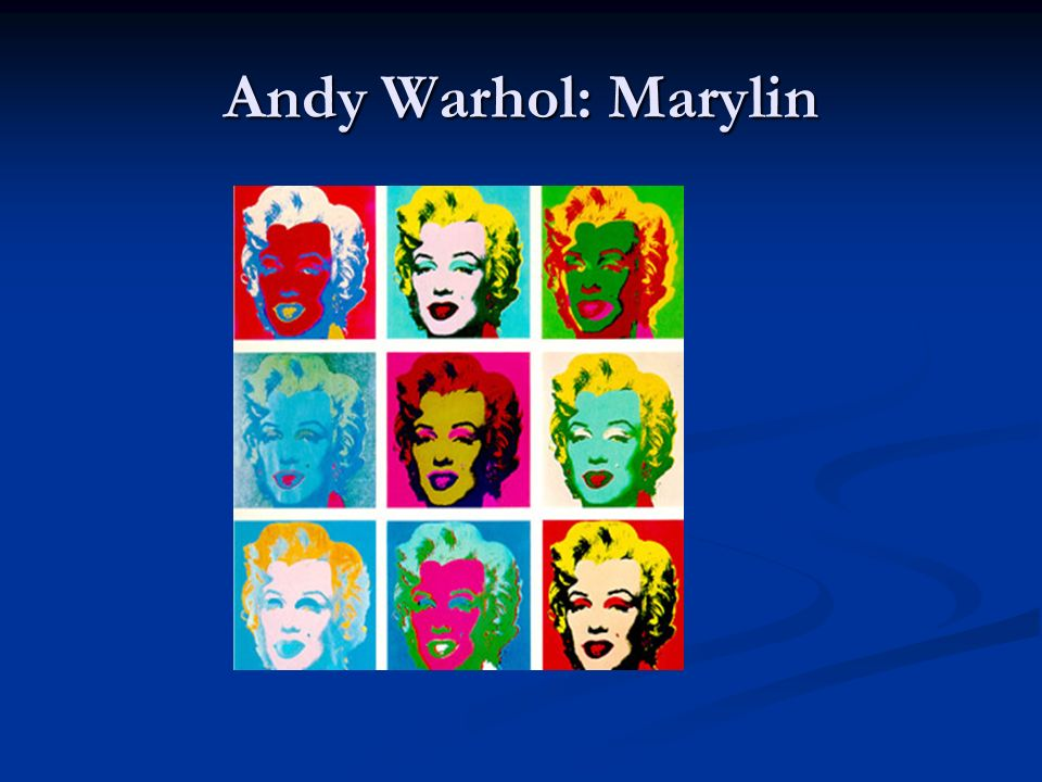 Andy Warhol: Marylin