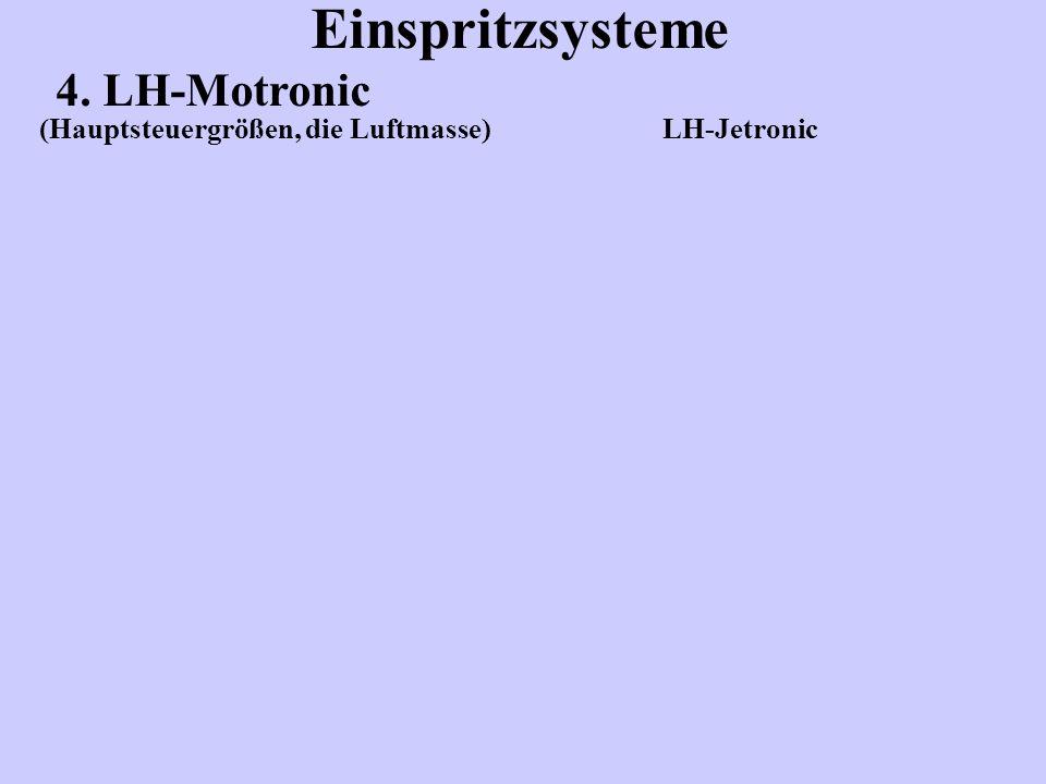 Einspritzsysteme 4. LH-Motronic