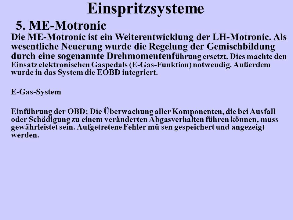 Einspritzsysteme 5. ME-Motronic