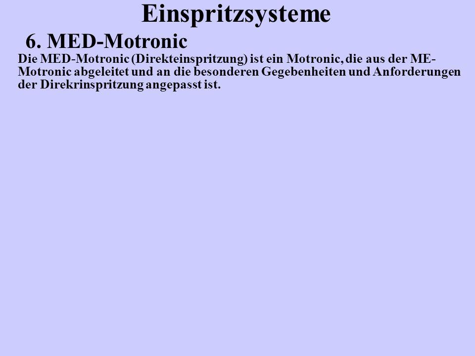 Einspritzsysteme 6. MED-Motronic