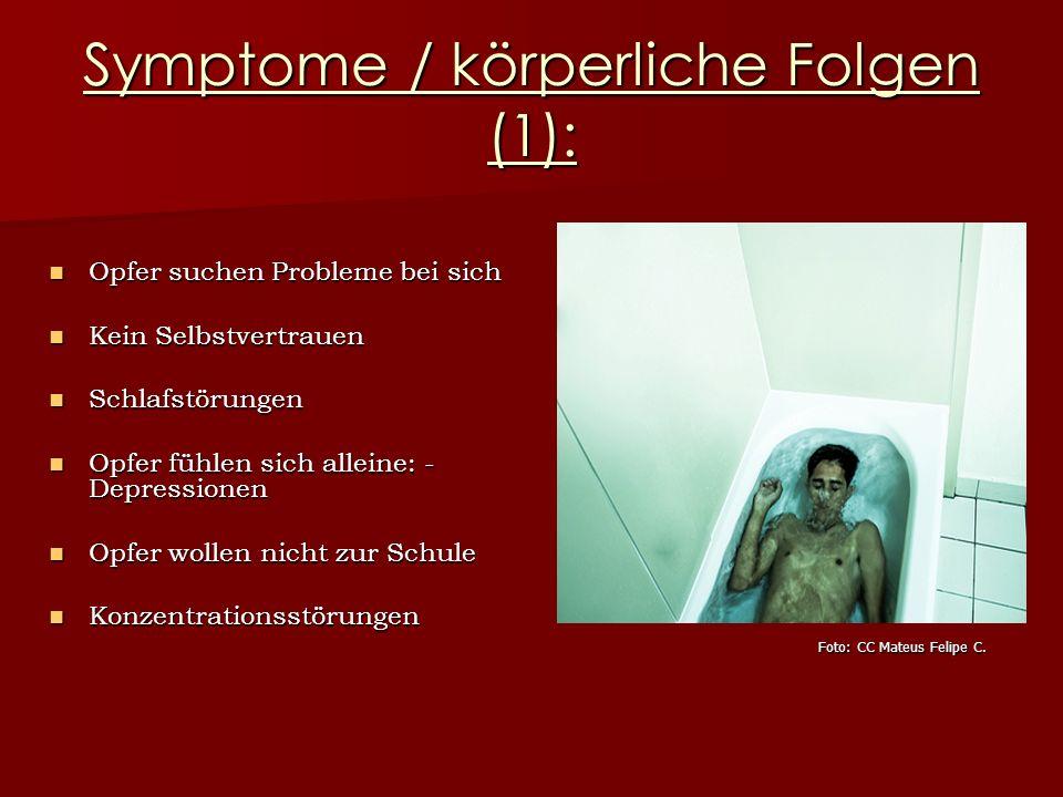 Symptome / körperliche Folgen (1):