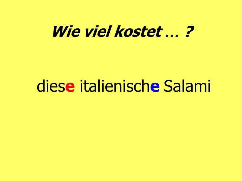 diese italienische Salami