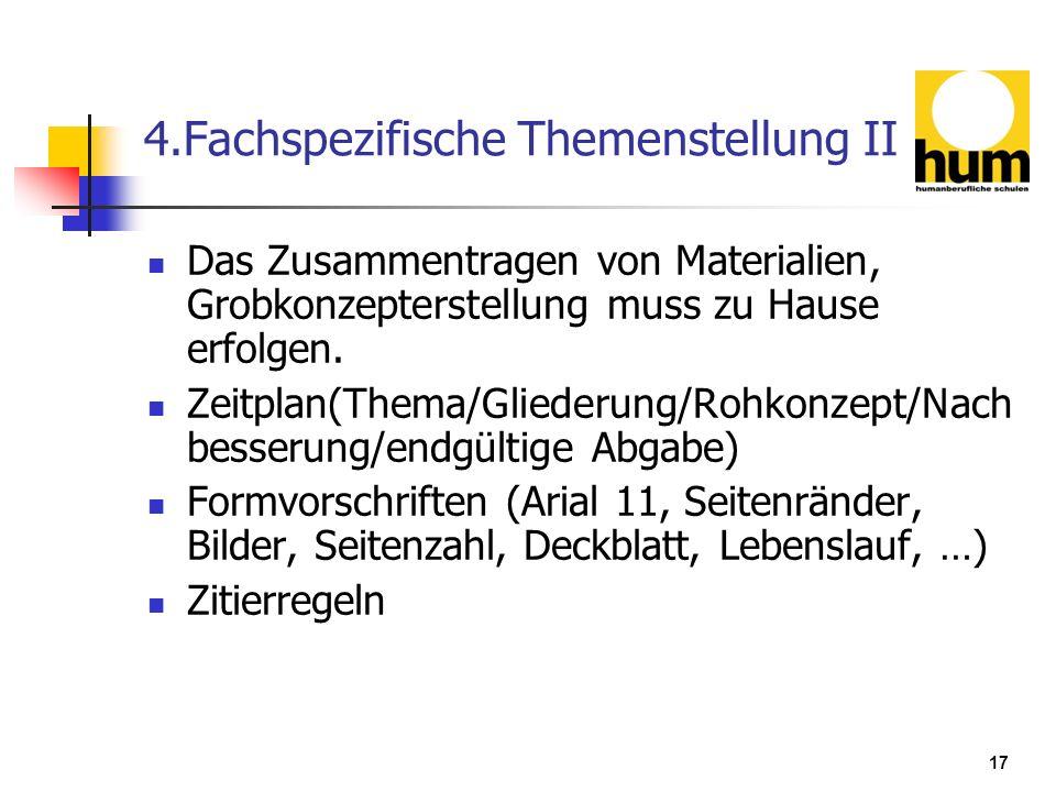 4.Fachspezifische Themenstellung II