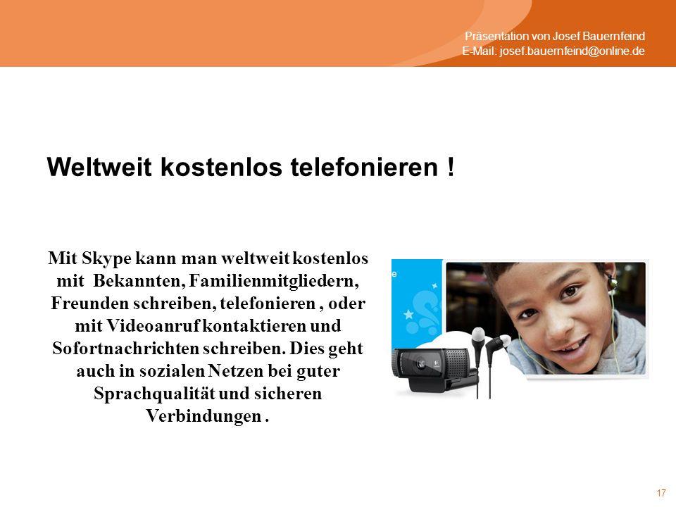 Weltweit kostenlos telefonieren !