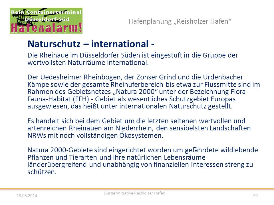 Naturschutz – international -