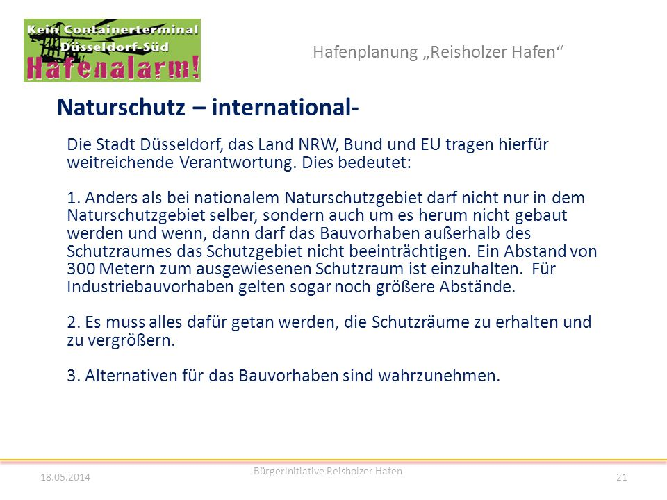 Naturschutz – international-