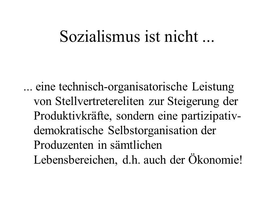 Sozialismus ist nicht ...