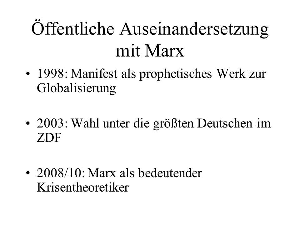 Öffentliche Auseinandersetzung mit Marx