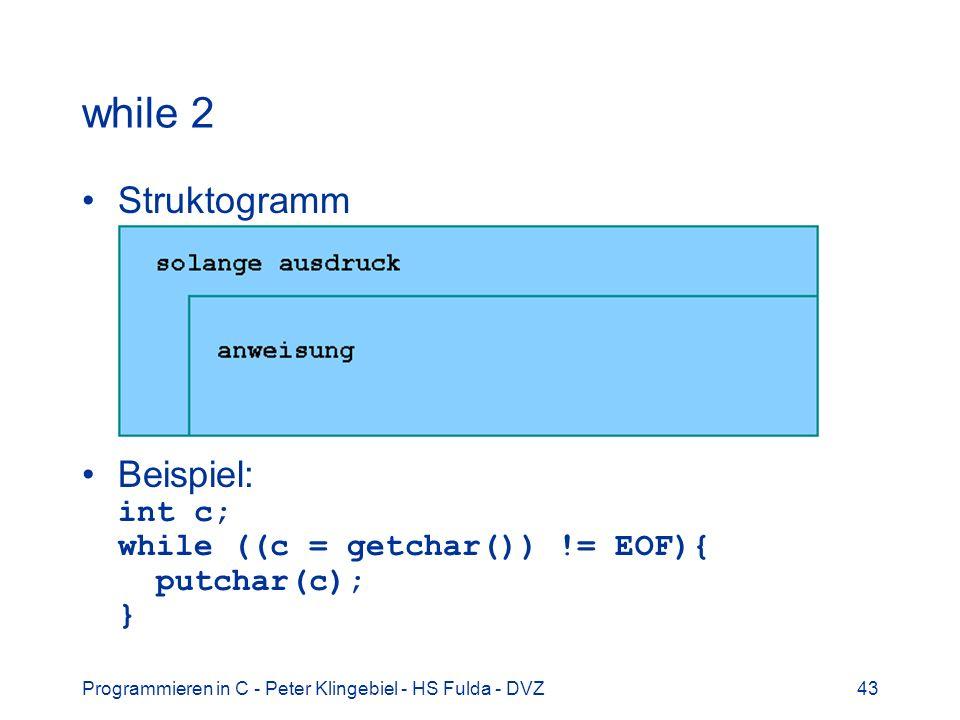 while 2 Struktogramm.