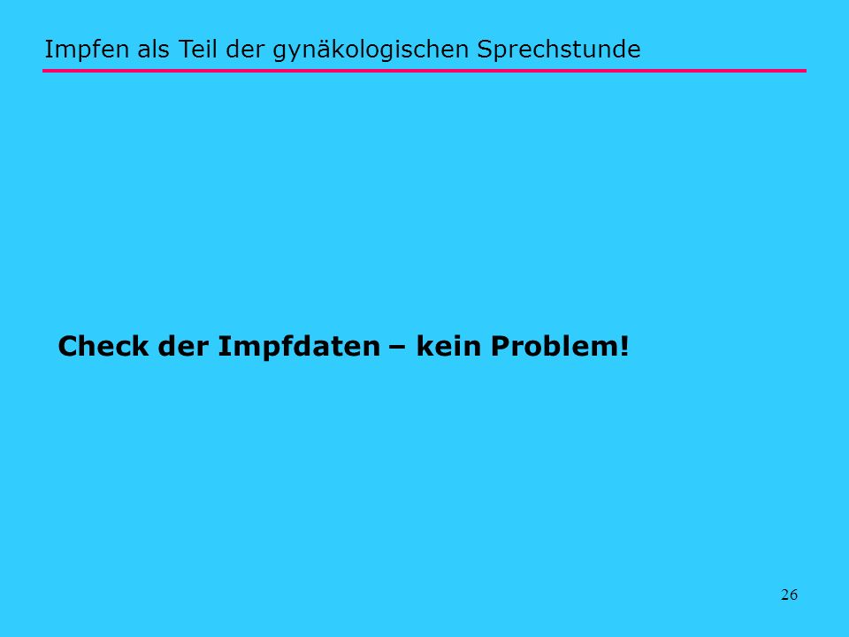 Check der Impfdaten – kein Problem!