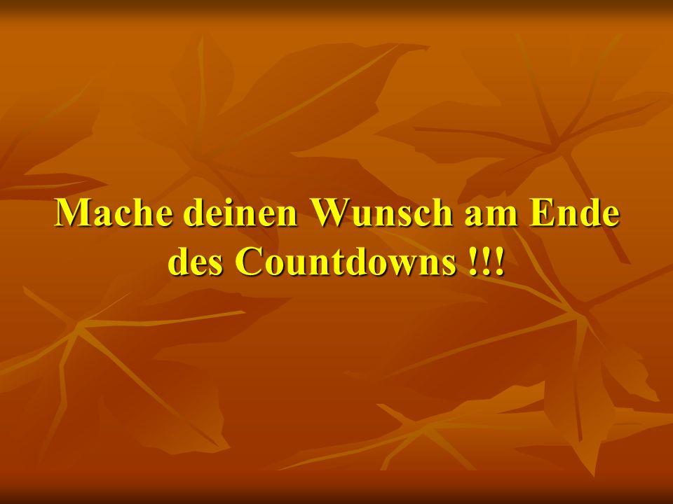 Mache deinen Wunsch am Ende des Countdowns !!!