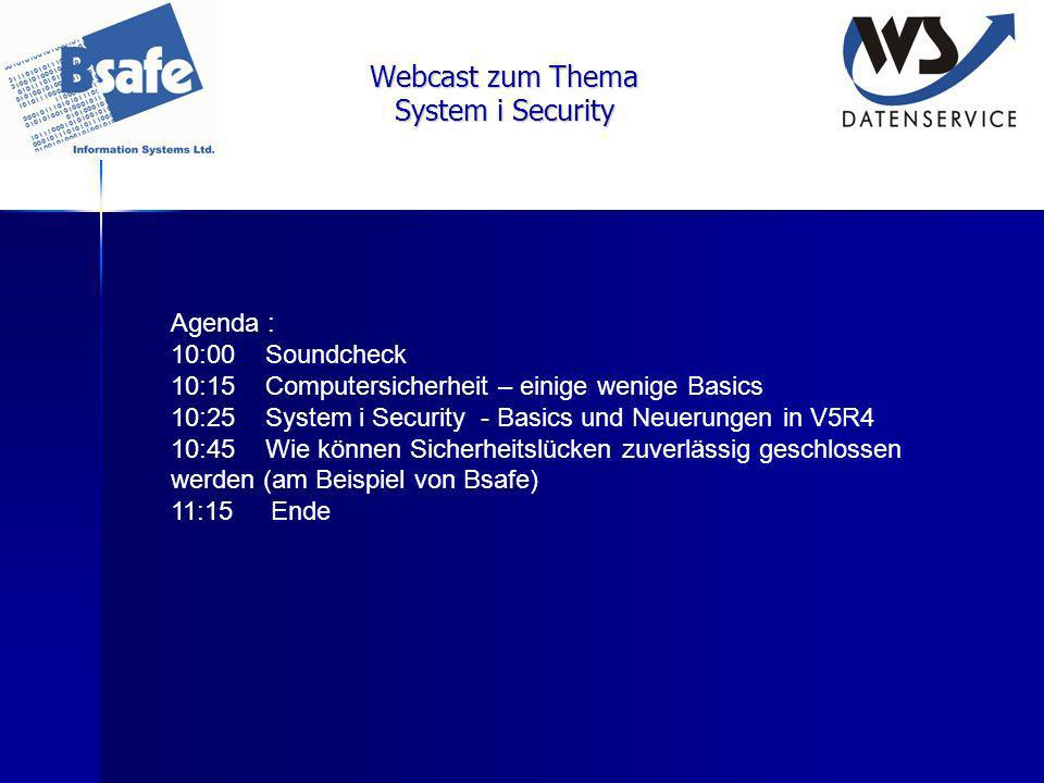 Webcast zum Thema System i Security