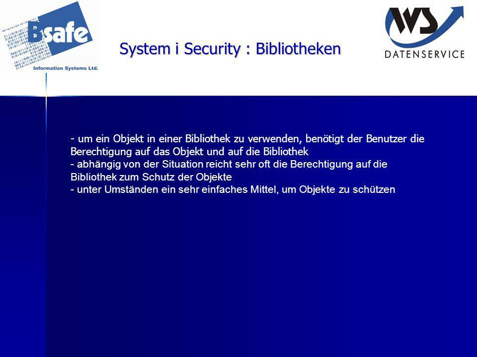 System i Security : Bibliotheken