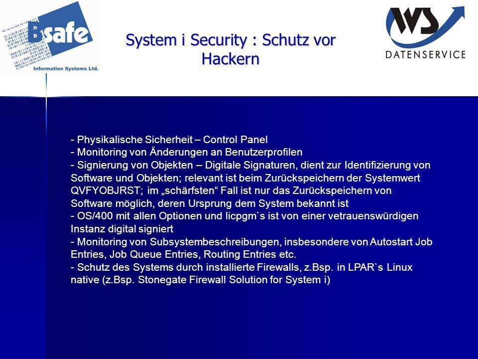 System i Security : Schutz vor Hackern