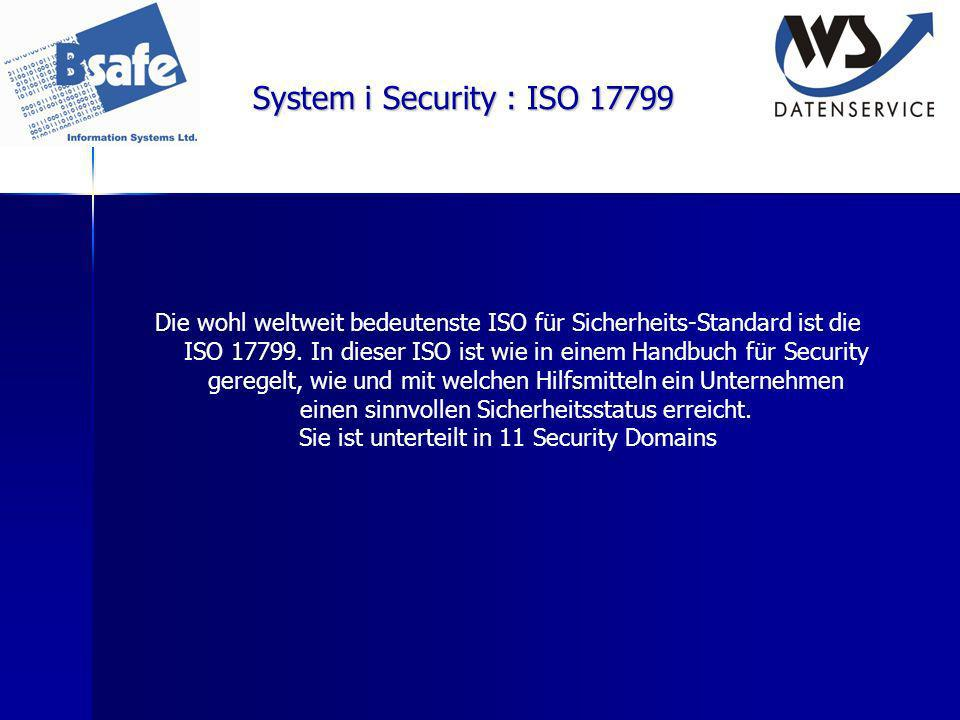 Sie ist unterteilt in 11 Security Domains