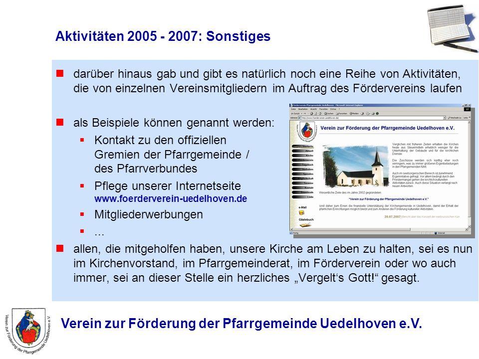 Aktivitäten 2005 - 2007: Sonstiges