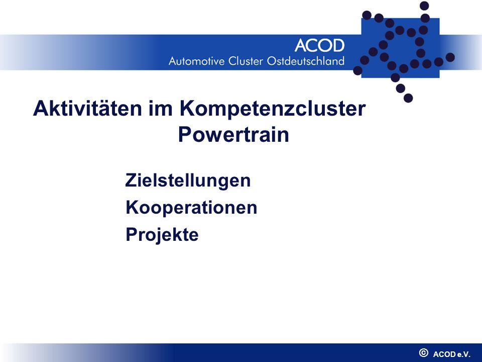 Aktivitäten im Kompetenzcluster Powertrain