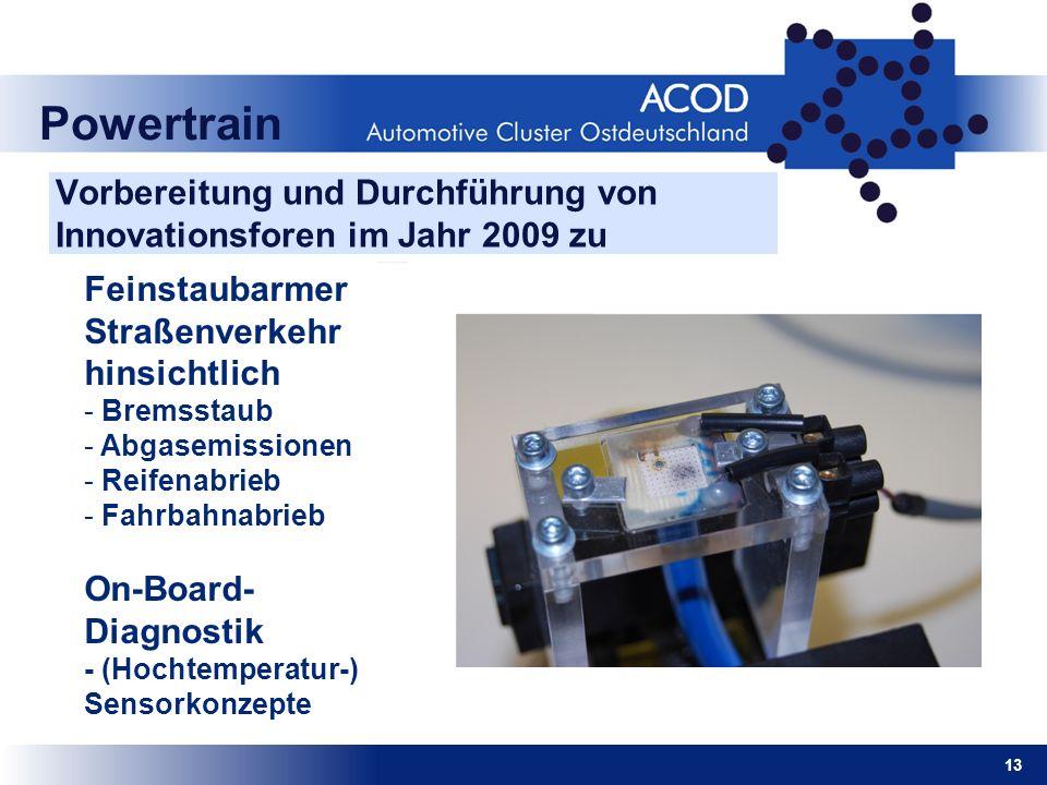 Vorbereitung und Durchführung von Innovationsforen im Jahr 2009 zu