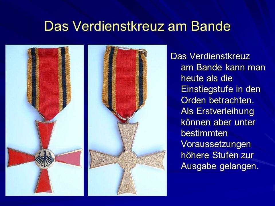 Das Verdienstkreuz am Bande