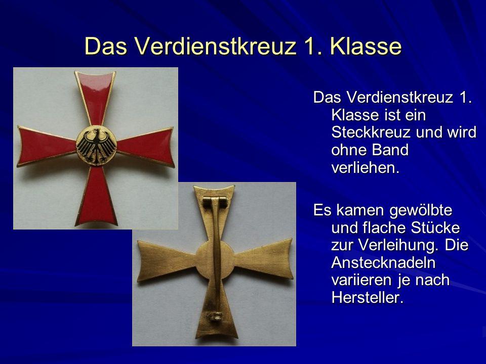 Das Verdienstkreuz 1. Klasse