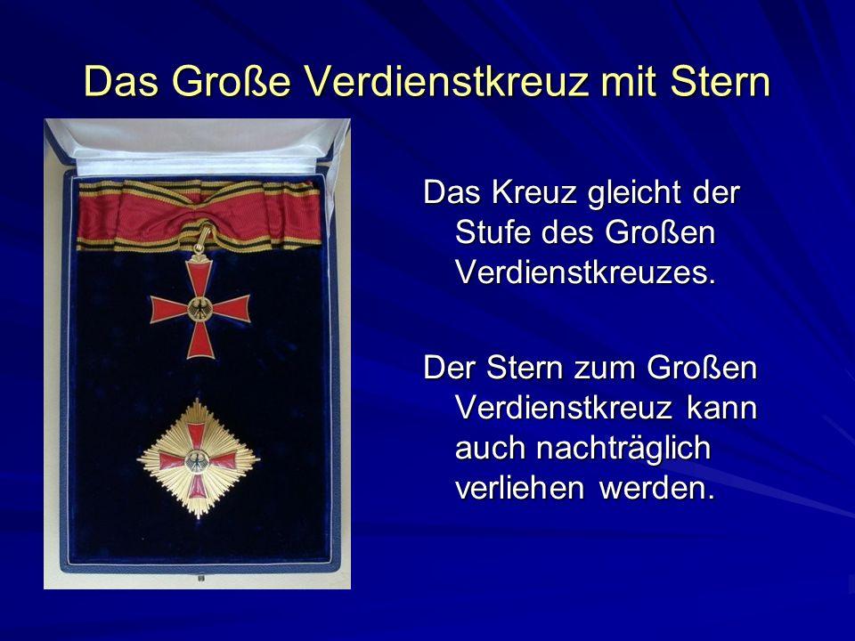 Das Große Verdienstkreuz mit Stern