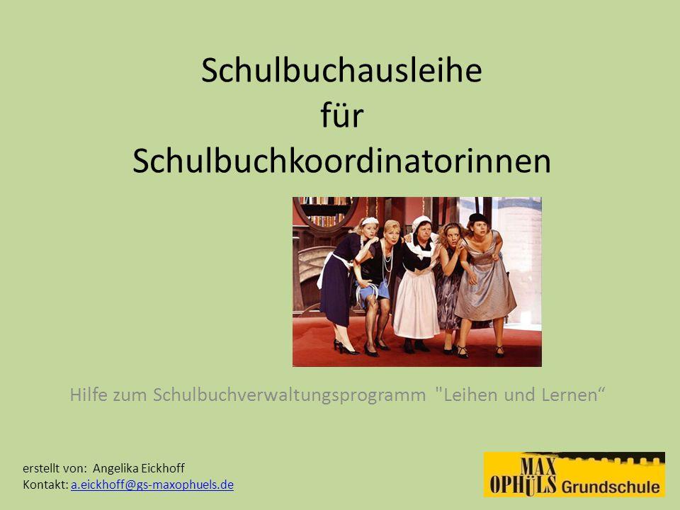 Schulbuchausleihe für Schulbuchkoordinatorinnen