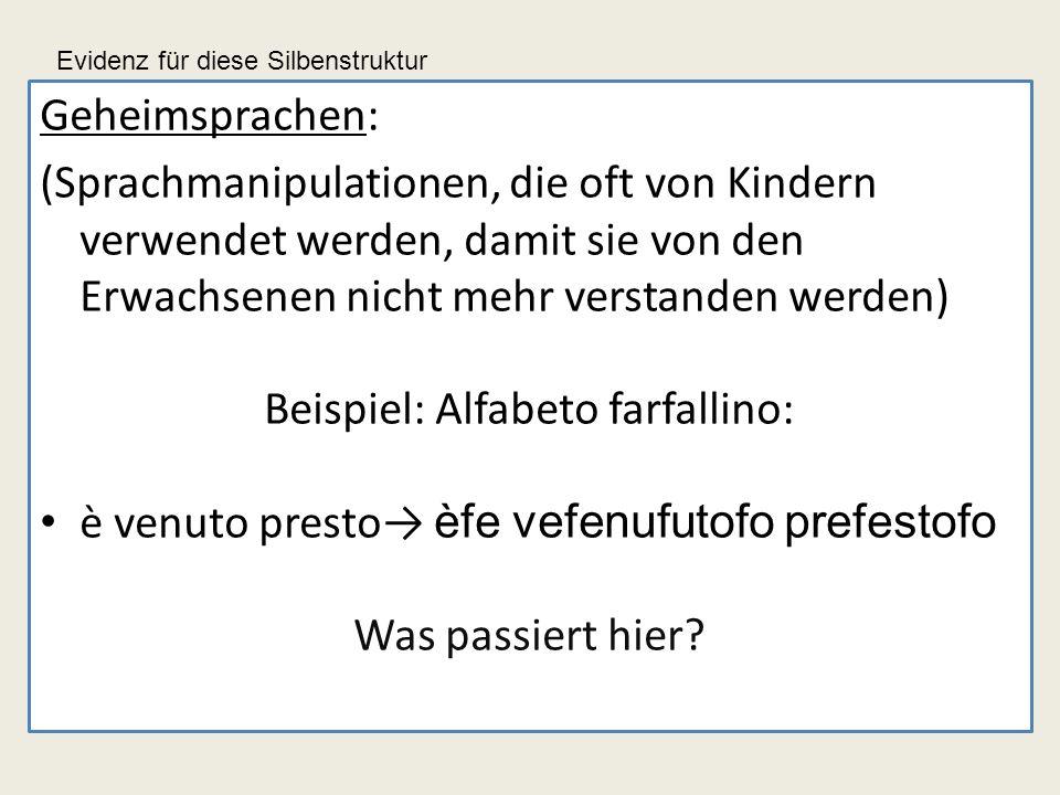 Beispiel: Alfabeto farfallino: