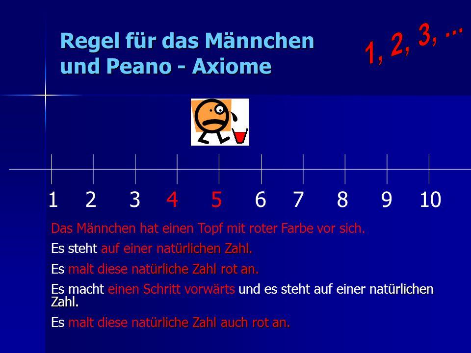 Regel für das Männchen und Peano - Axiome