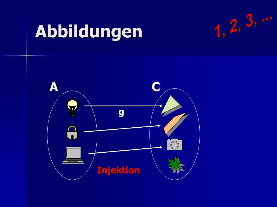 1, 2, 3, ... Abbildungen A C g Injektion