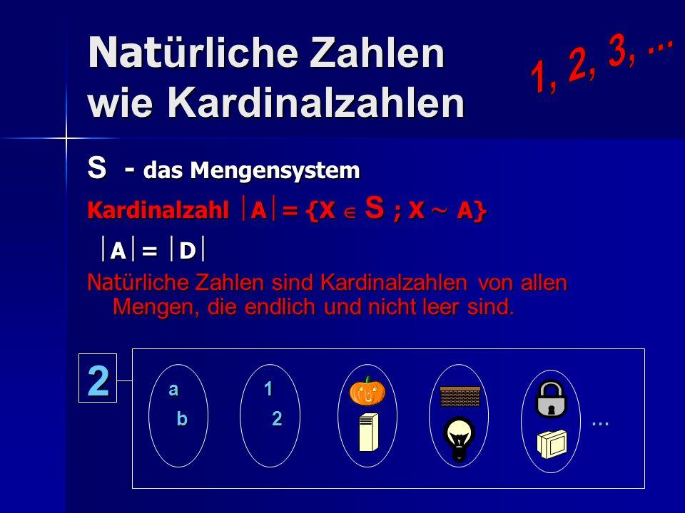 Natürliche Zahlen wie Kardinalzahlen