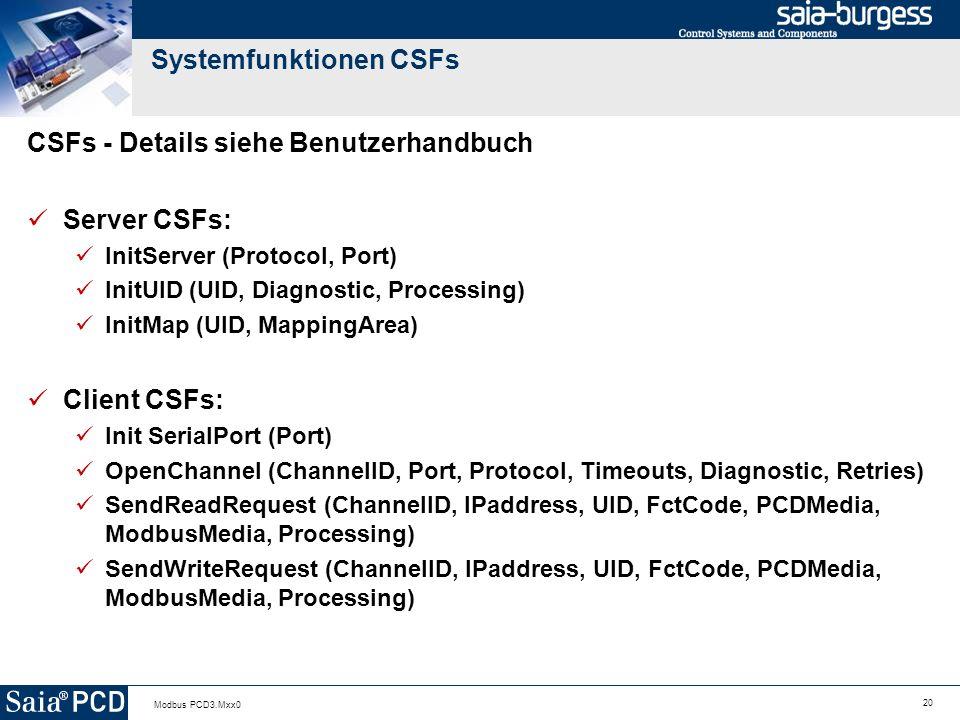 Systemfunktionen CSFs