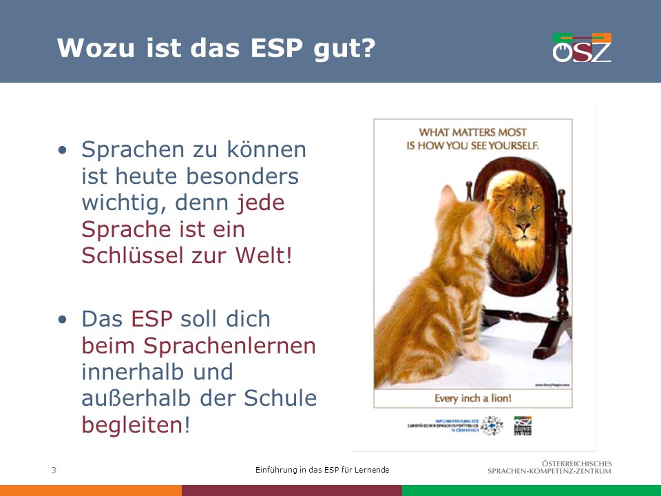 Wozu ist das ESP gut Sprachen zu können ist heute besonders wichtig, denn jede Sprache ist ein Schlüssel zur Welt!