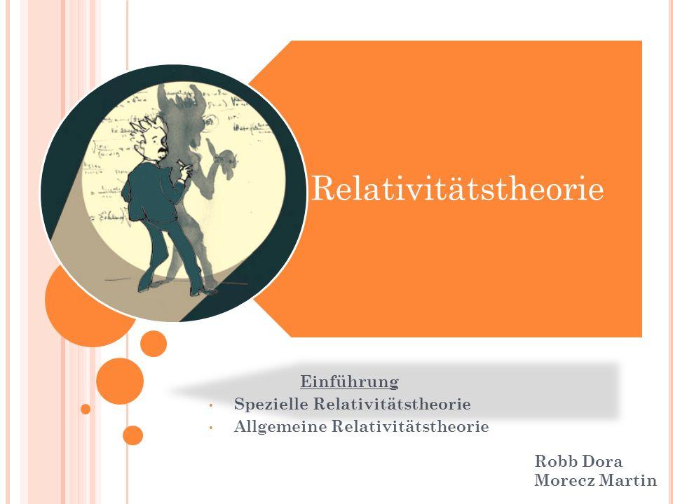 Relativitätstheorie Einführung Spezielle Relativitätstheorie