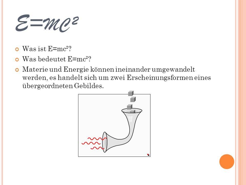 E=mc² Was ist E=mc² Was bedeutet E=mc²