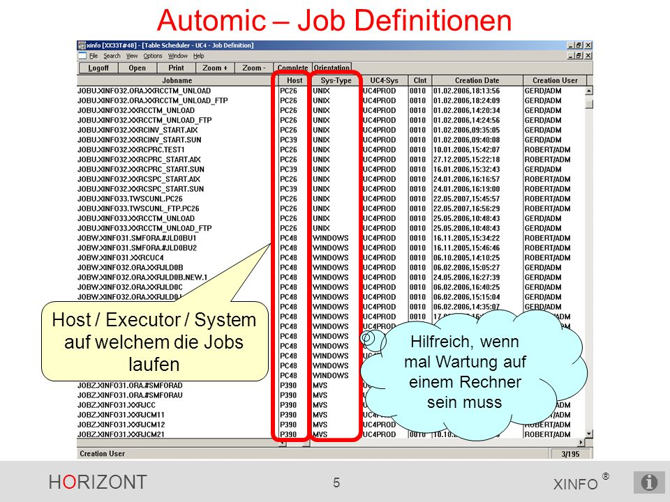 Automic – Job Definitionen