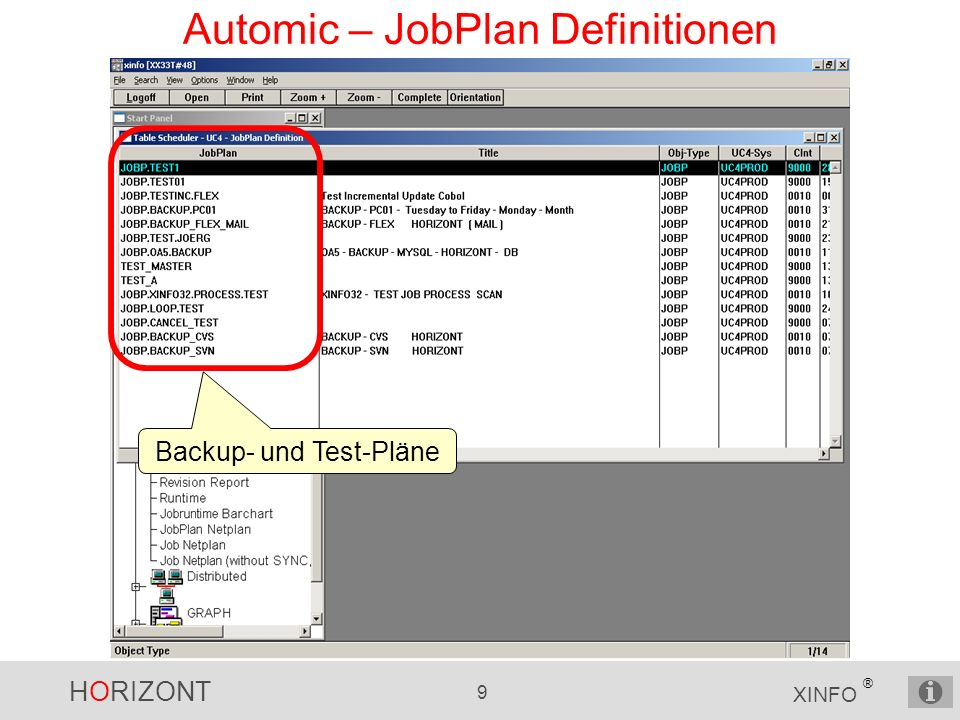 Automic – JobPlan Definitionen